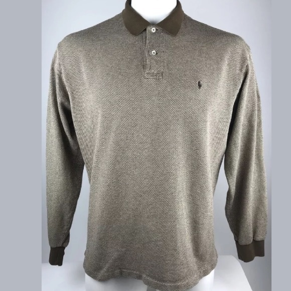 Polo by Ralph Lauren Other - Polo by Ralph Lauren Men's Brown Patterned Polo